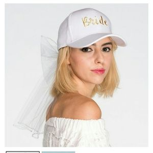 Bride white baseball cap